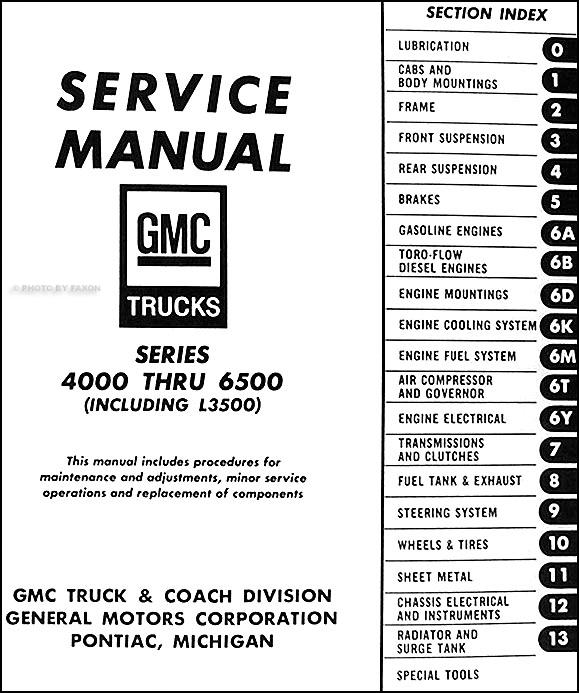 1967 gmc 4000 6500 repair shop manual original medium duty 1949 ford truck wiring diagram #1
