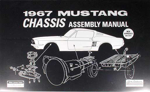 1967 ford mustang chassis assembly manual reprint, Wiring diagram