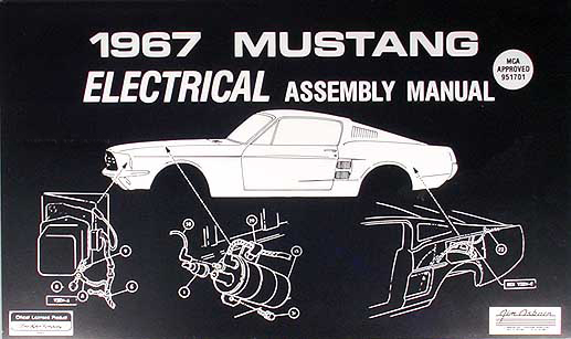 ford mustang wiring diagram manual reprint 1967 ford mustang electrical assembly manual reprint