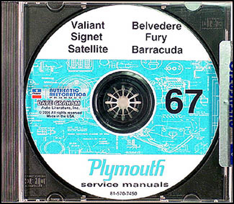 plymouth gtx service manuals shop owner maintenance and repair 1967 plymouth cd shop manual belvedere satellite fury valiant