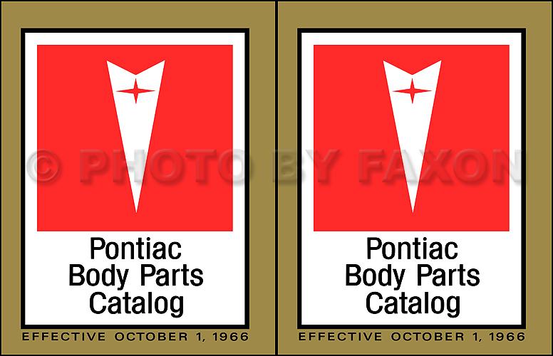 1967 Pontiac Firebird Parts Book Supplement Reprint