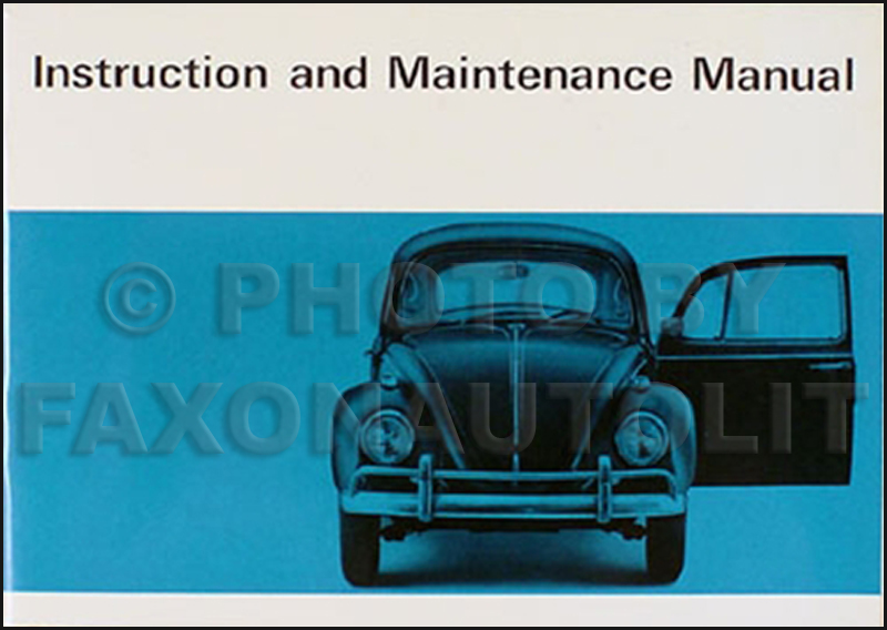 1967 volkswagen bug beetle owner s manual original vw rh faxonautoliterature com vw beetle owners manual 2012 vw beetle user manual