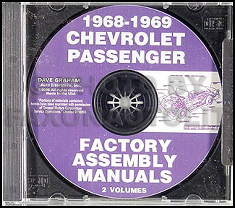 CD-ROM 1968-1969 Chevrolet Assembly Manual
