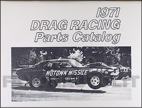 1968-1971 All MoPar Muscle Drag Race Reprint Parts Book