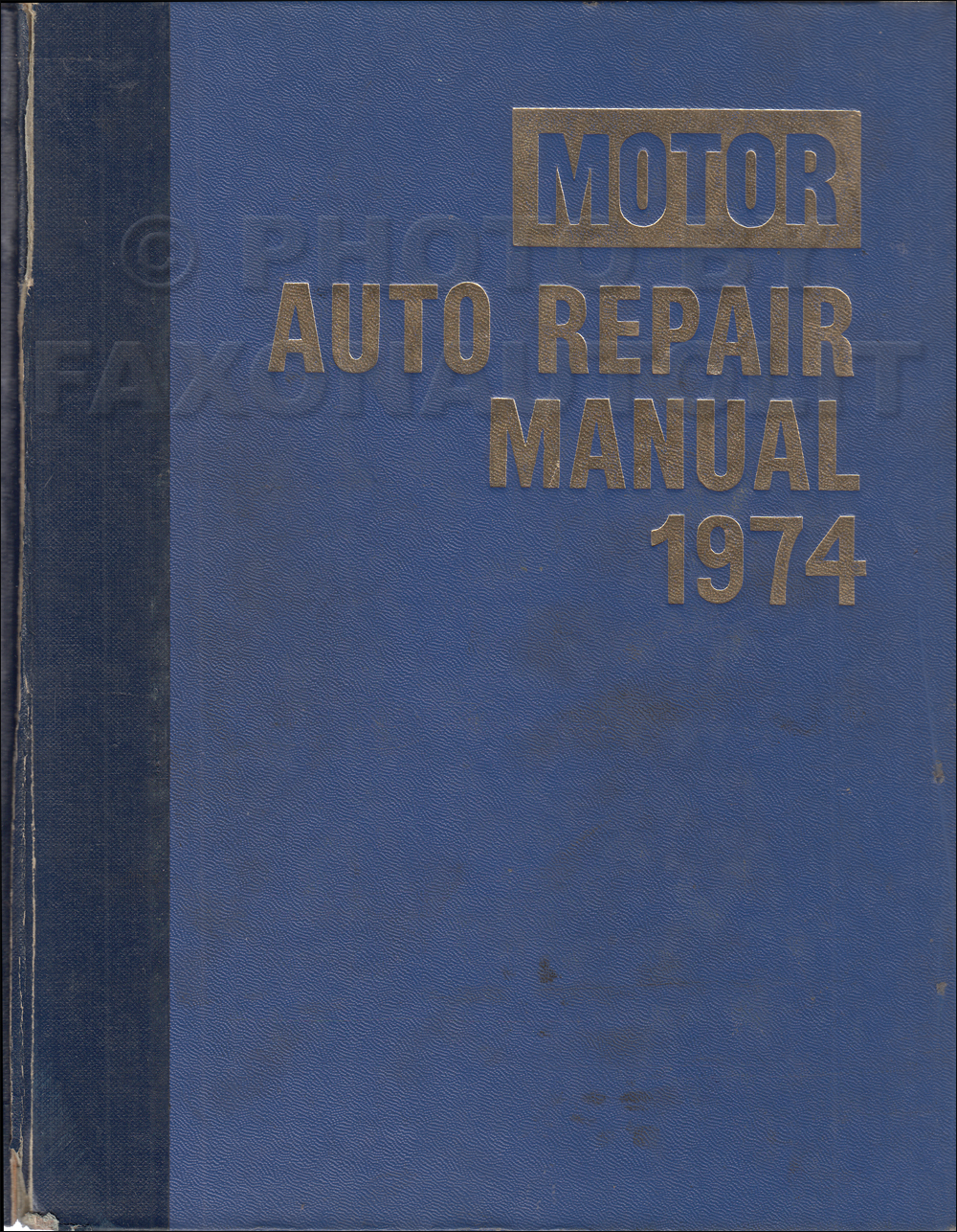 1968-1974 Motors Shop Manual US Cars 37th Edition