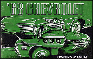 chevy wiring diagram reprint impala ss caprice bel air biscayne 1968 chevy owner s manual original impala ss caprice bel air biscayne
