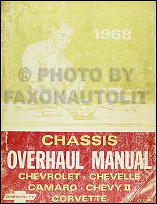 1968 Chevy Car Overhaul Manual Original