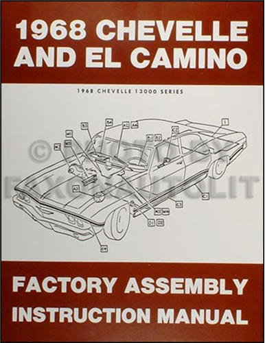 1968ChevroletChevelleElCaminoRAM 1968 chevelle factory assembly manual reprint el camino malibu and ss 1968 chevelle wiring diagram at soozxer.org