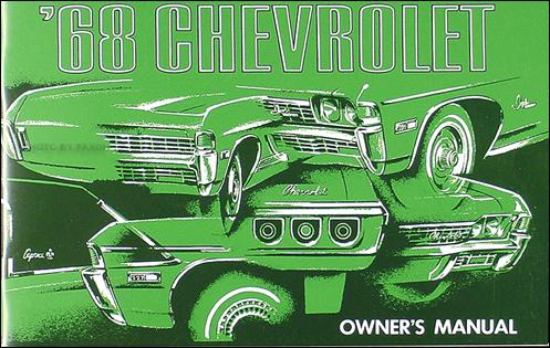 1968 Chevy Wiring Diagram Reprint Impala SS Caprice Bel ...
