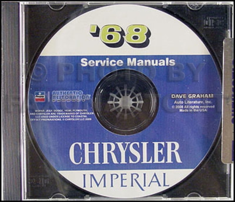 1968 Chrysler Repair Shop Manual On CD For Imperial