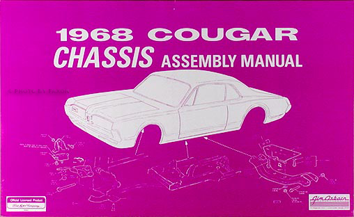 1968 mercury cougar chassis assembly manual reprint asfbconference2016 Images