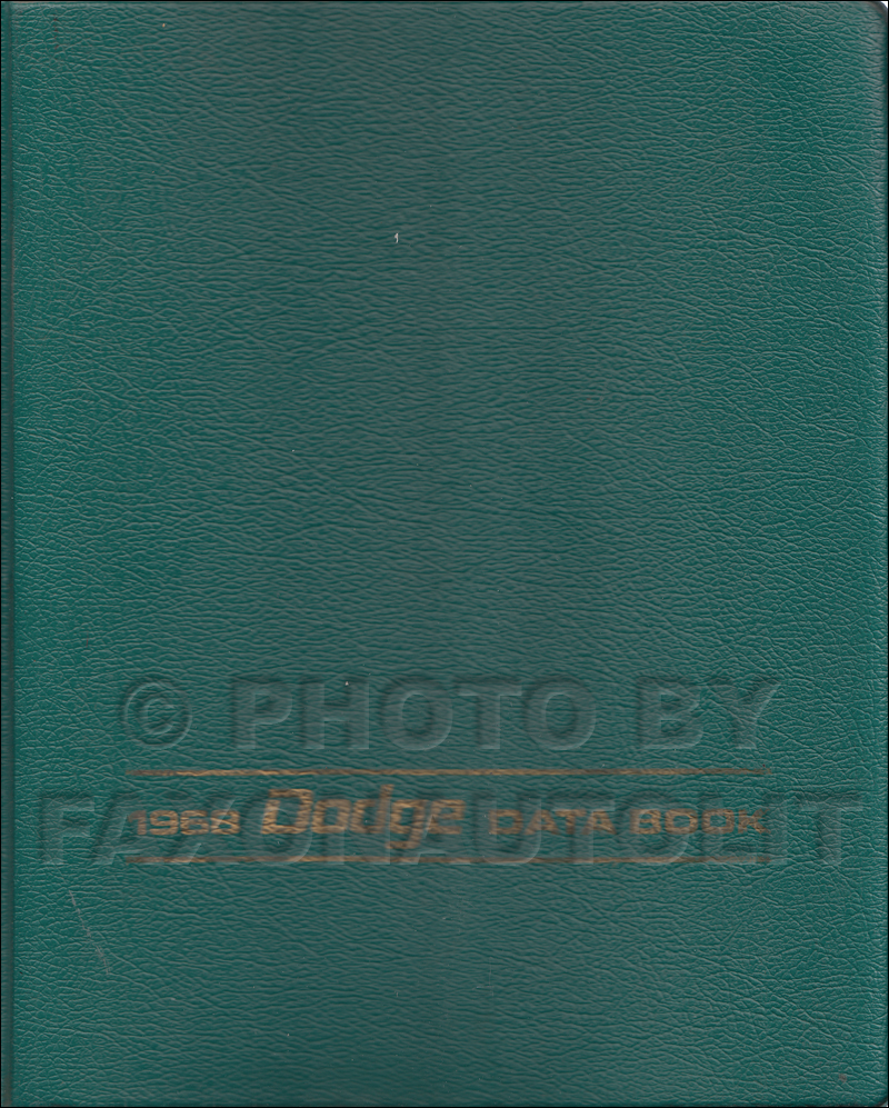 1968 dart wiring diagram manual reprint 1968 dodge car data book original 299 00