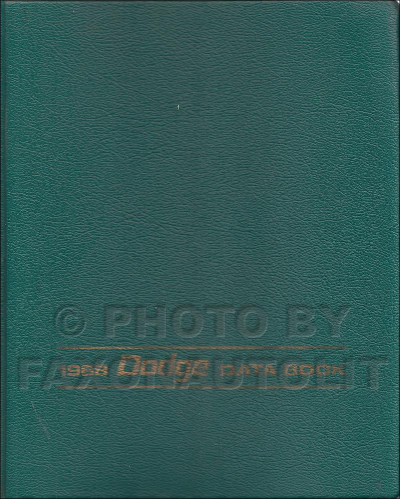 1968 Dodge Charger Coronet Dart Repair Shop Manual Reprint