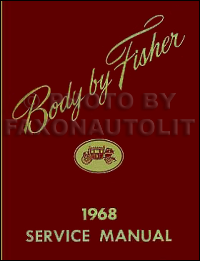 1968 Chevy Body Repair Shop Manual Reprint