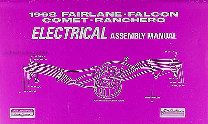 1968FordFairlaneRELAM 1968 fairlane, torino, ranchero wiring diagram manual reprint  at aneh.co