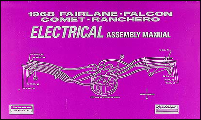 1968 Fairlane  Torino  Ranchero Wiring Diagram Manual Reprint
