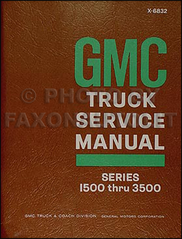 1968 gmc 1500 3500 truck van repair shop manual original. Black Bedroom Furniture Sets. Home Design Ideas