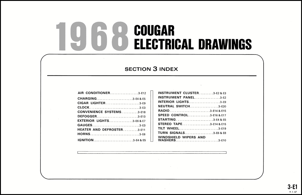 1968 mercury cougar and xr7 wiring diagram original 1969 mercury cougar wiring diagram