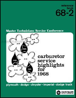 1968 MoPar Carburetor Training Manual Reprint