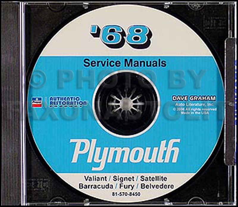 plymouth gtx service manuals shop owner maintenance and repair 1968 plymouth cd repair shop manual barracuda belvedere satellite gtx fury valiant