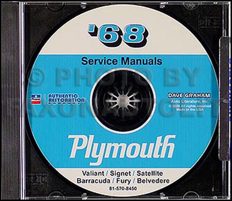 1968 Plymouth Cd Repair Shop Manual Barracuda Belvedere
