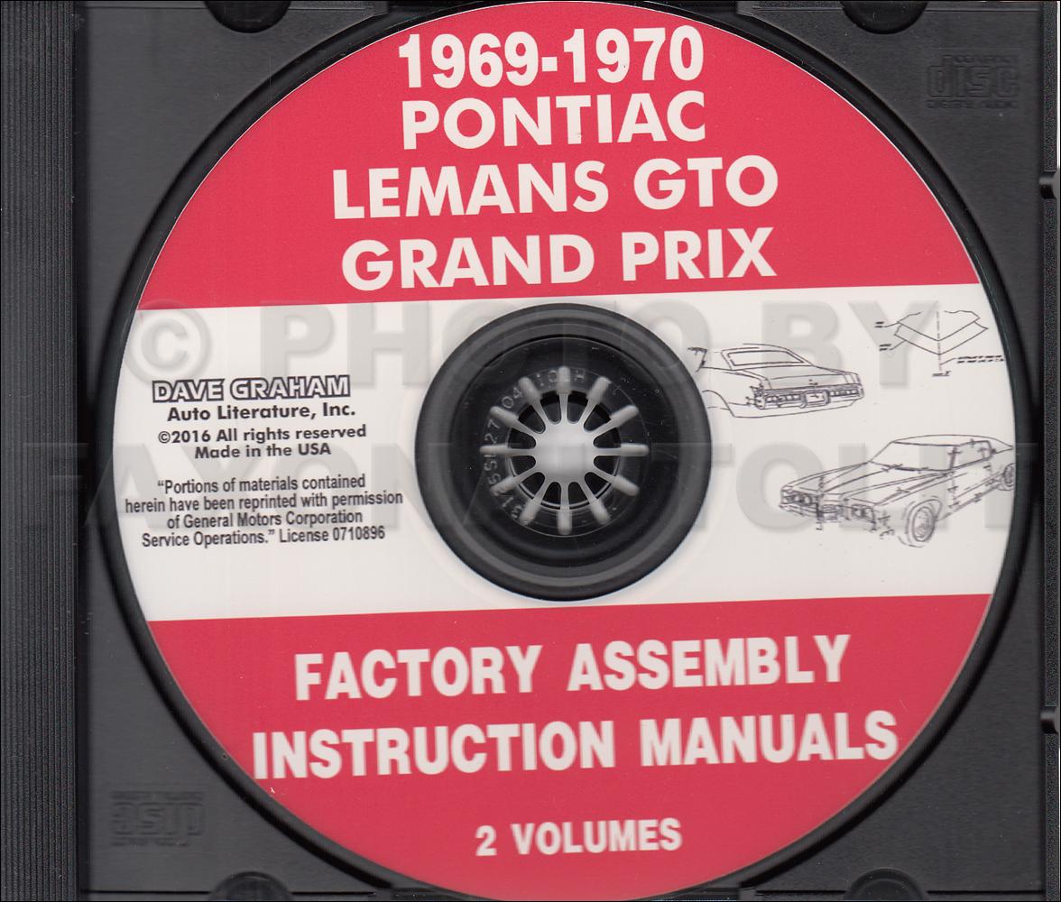 1970 Pontiac Gto  Lemans  Tempest Wiring Diagram Manual Reprint