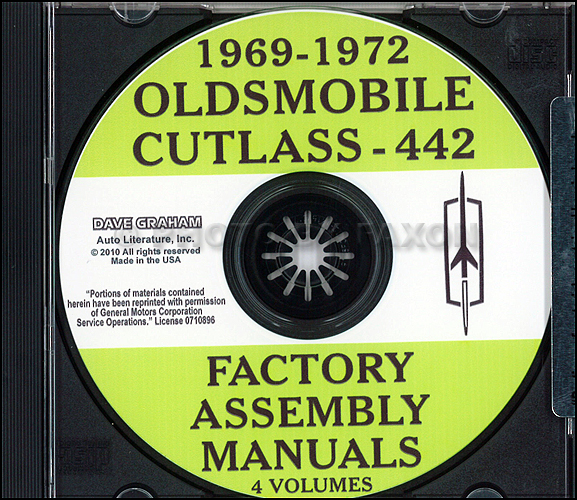 1969 1972 oldsmobile cutlass 442 cd rom assembly manuals 1969 Lemans Wiring Diagram