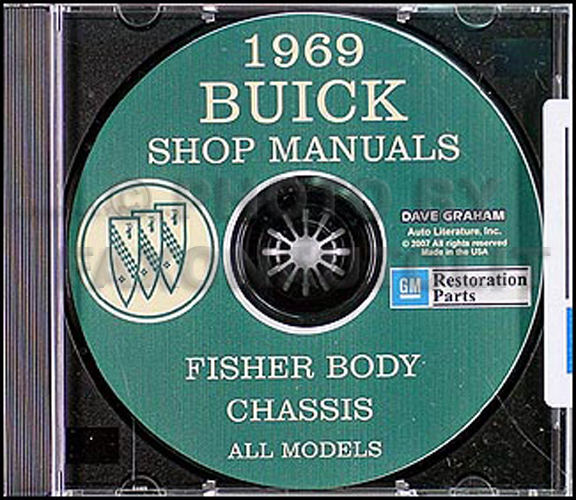 1969 Buick Cd Shop And Body Manual Gs Skylark Special