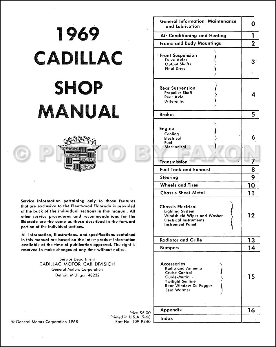 1969CadillacFALRRM TOC 1969 cadillac repair shop manual reprint Cadillac AC Diagram at edmiracle.co