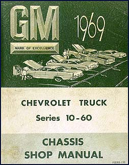1969 Chevy CANADIAN Truck Repair Shop Manual Orig. Van Pickup Truck Suburban