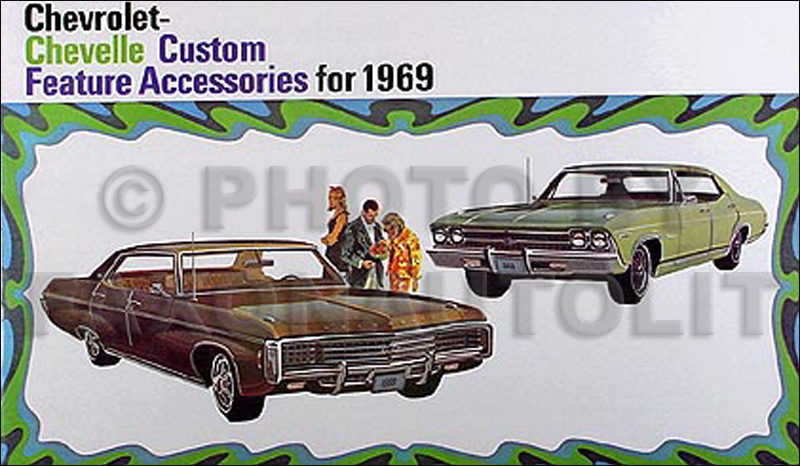 1969 Chevrolet Reprint Accessories Catalog Chevy Impala Bel Air Chevelle El Camino