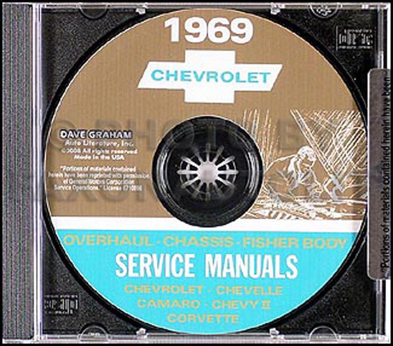 1969 Chevy CD-ROM Shop, Overhaul, & Body Manual