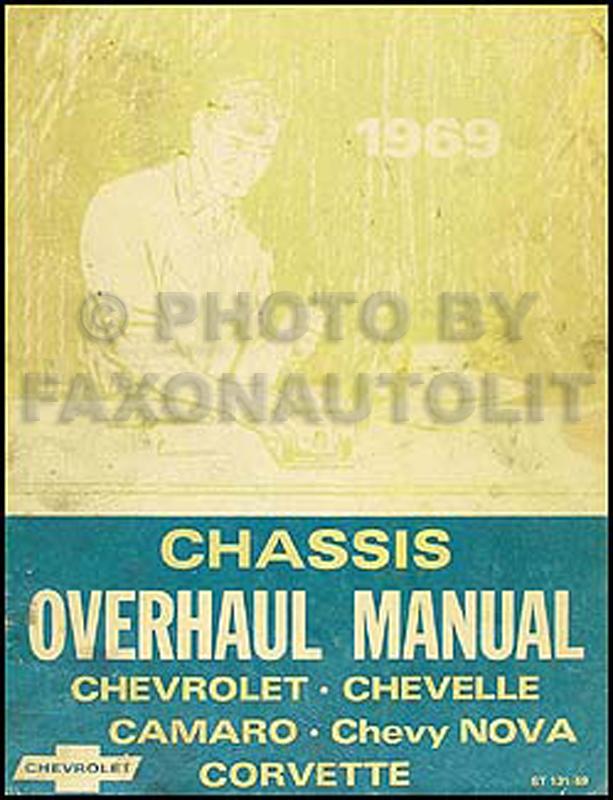 1969 Chevy Car Overhaul Manual Original