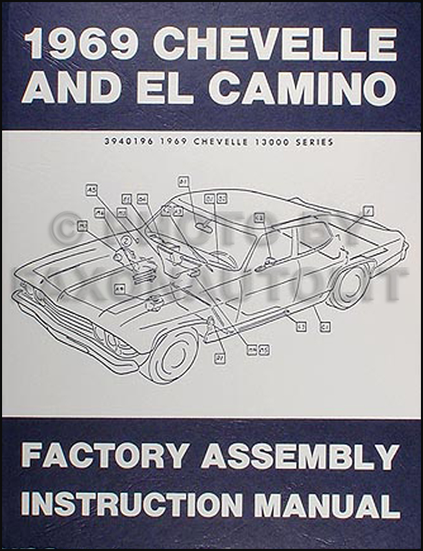 1969 chevelle assembly manual reprint el camino malibu super sport ss rh faxonautoliterature com Hydra Sport Wiring Diagram 2003 Malibu Wiring Diagram