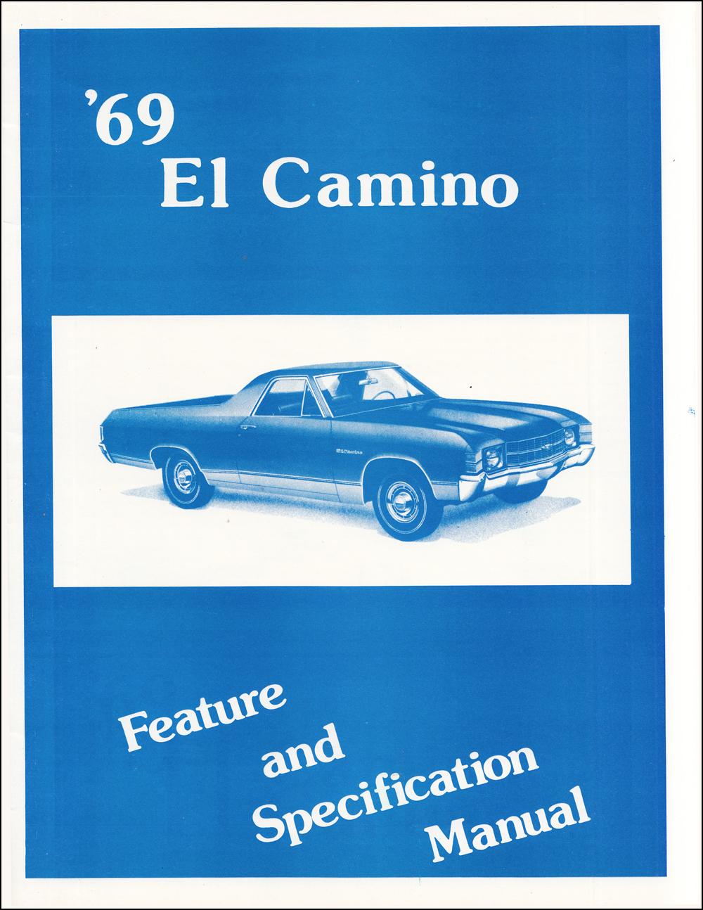 1969 Chevelle Assembly Manual Reprint El Camino Malibu Super Sport Ss