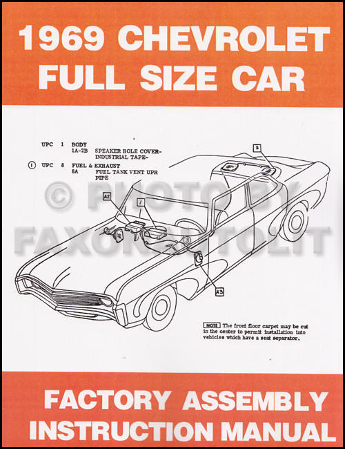 1969 Chevrolet Repair Shop Manual Original