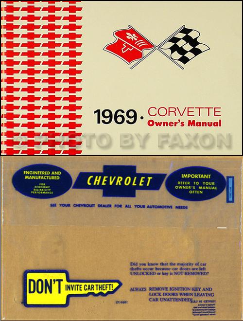 1969 corvette owner s manual package reprint 69 rh faxonautoliterature com 1969 corvette owners manual pdf 1969 corvette owners manual pdf