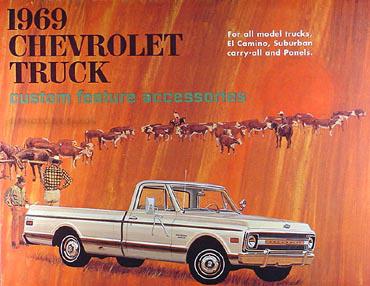 1969 Chevrolet Pickup, El Camino Suburban & Truck Color Accessory Book