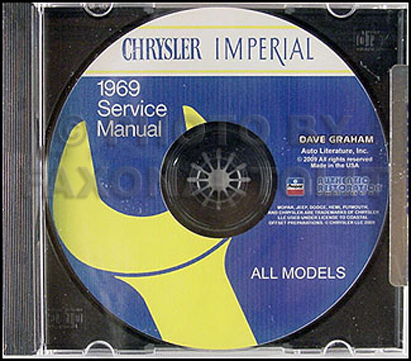 1969 Chrysler CD-ROM Repair Shop Manual Imperial New
