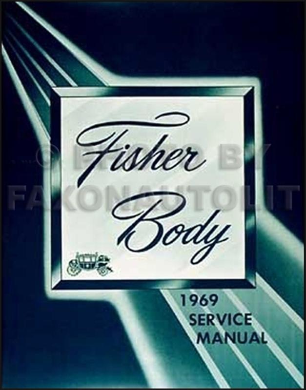 1969 Chevy Body Repair Shop Manual Reprint