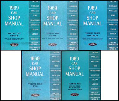 1969 ford mustang shelby repair shop manual supplement reprint gt350 gt500. Black Bedroom Furniture Sets. Home Design Ideas