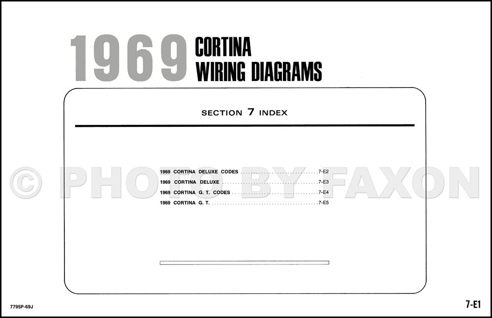 1973 Ford Cortina Wiring Diagram Original