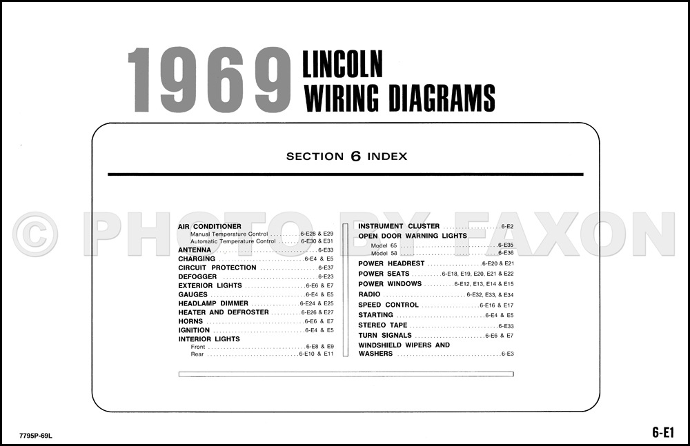 1969LincolnOWD TOC 1969 lincoln continental and town car factory wiring diagram original lincoln wiring diagrams at panicattacktreatment.co