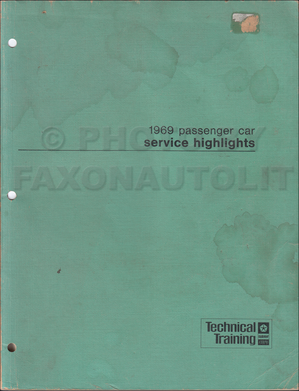 plymouth gtx service manuals shop owner maintenance and repair 1969 mopar service highlights manual original
