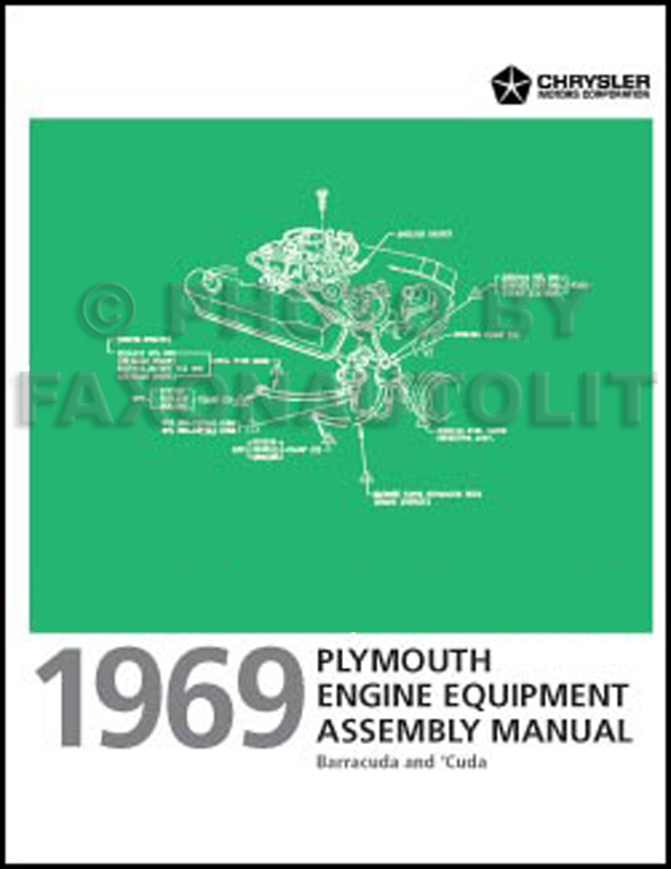 1969 Plymouth Barracuda Wiring Diagram Manual Reprint