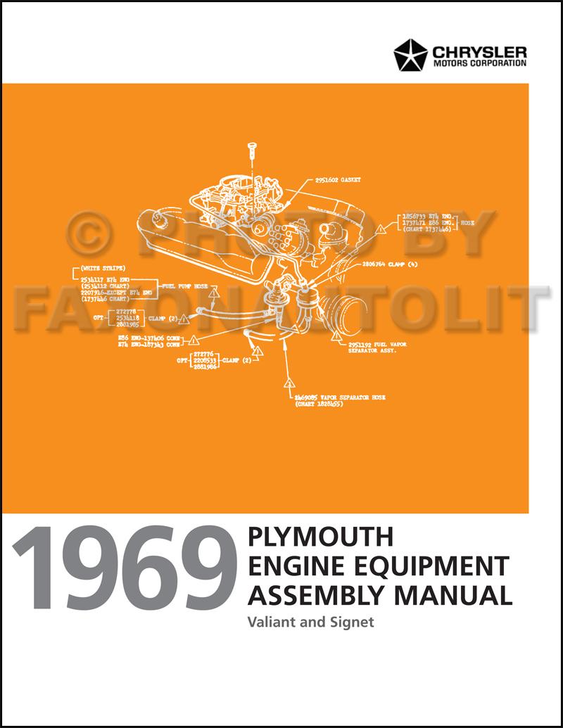 1969 Plymouth Valiant Wiring Diagram Manual Reprint