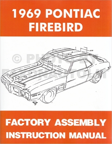 1969 Pontiac Firebird  U0026 Trans Am Wiring Diagram Manual Reprint