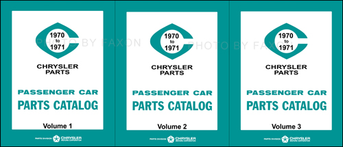 1970-1971 Dodge, Plymouth, Chrysler Parts Book Reprint