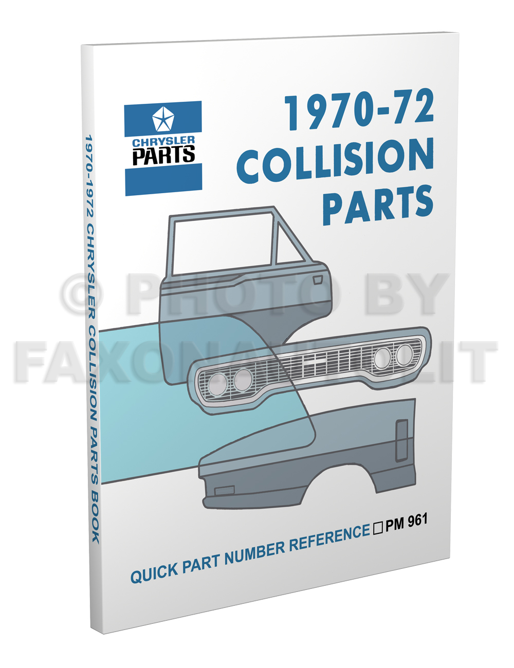 1970-1972 MoPar Body Collision Parts Book Reprint