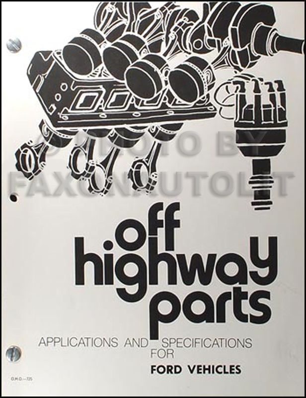 1963-1972 Ford Factory Racing Parts Book and Specs Manual Reprint